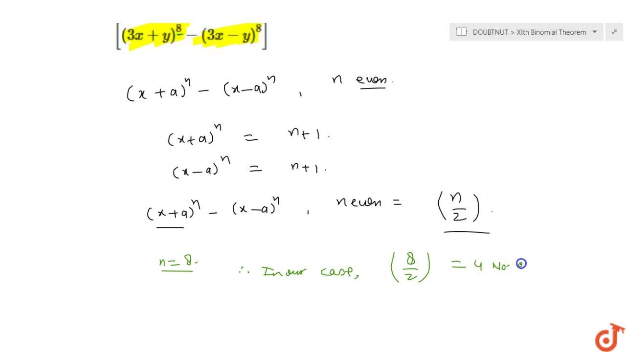 Solution for Find the number of terms in the expansions of the