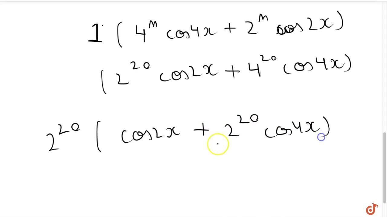 Solution for (d^(20)),(dx^(20))(2cosxcos3x)=  2^(20)(cos2x-2