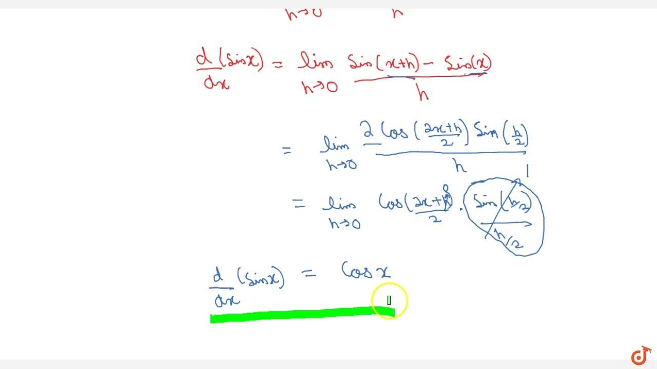 Differentiation by first principle: sin x