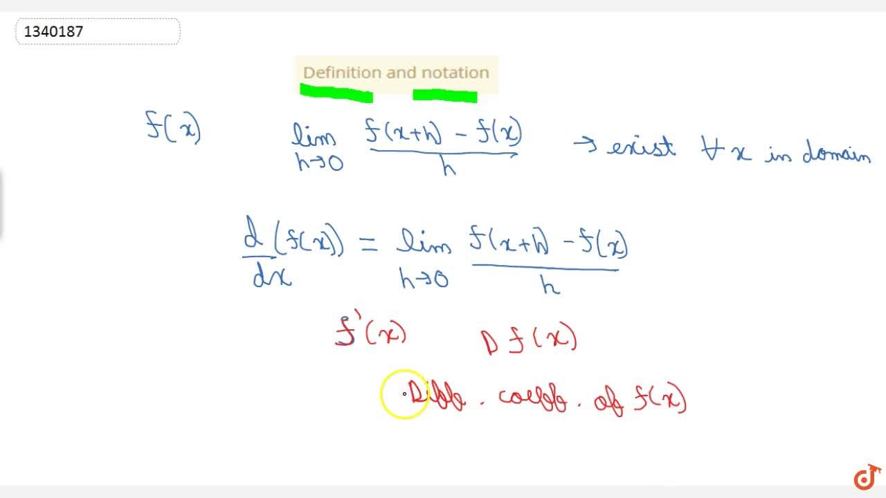 Solution for Definition and notation