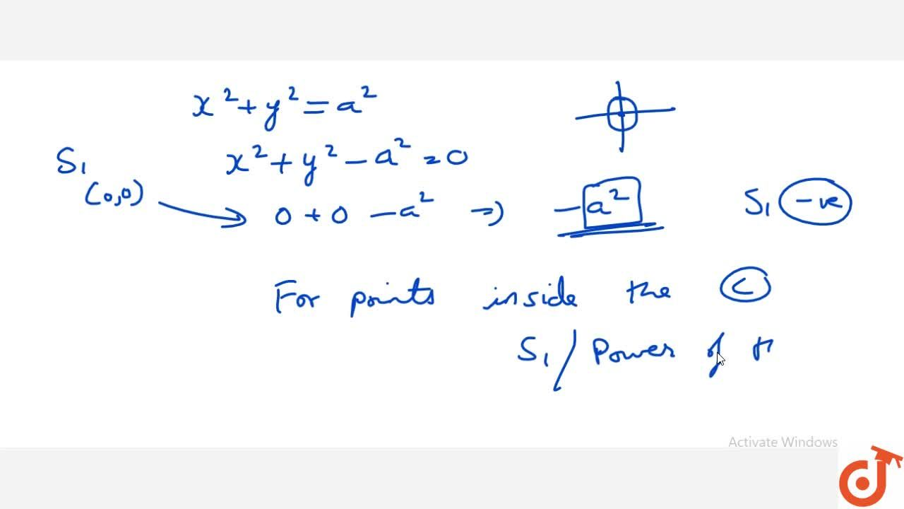 Solution for Power of a Point With respect to Circle when point
