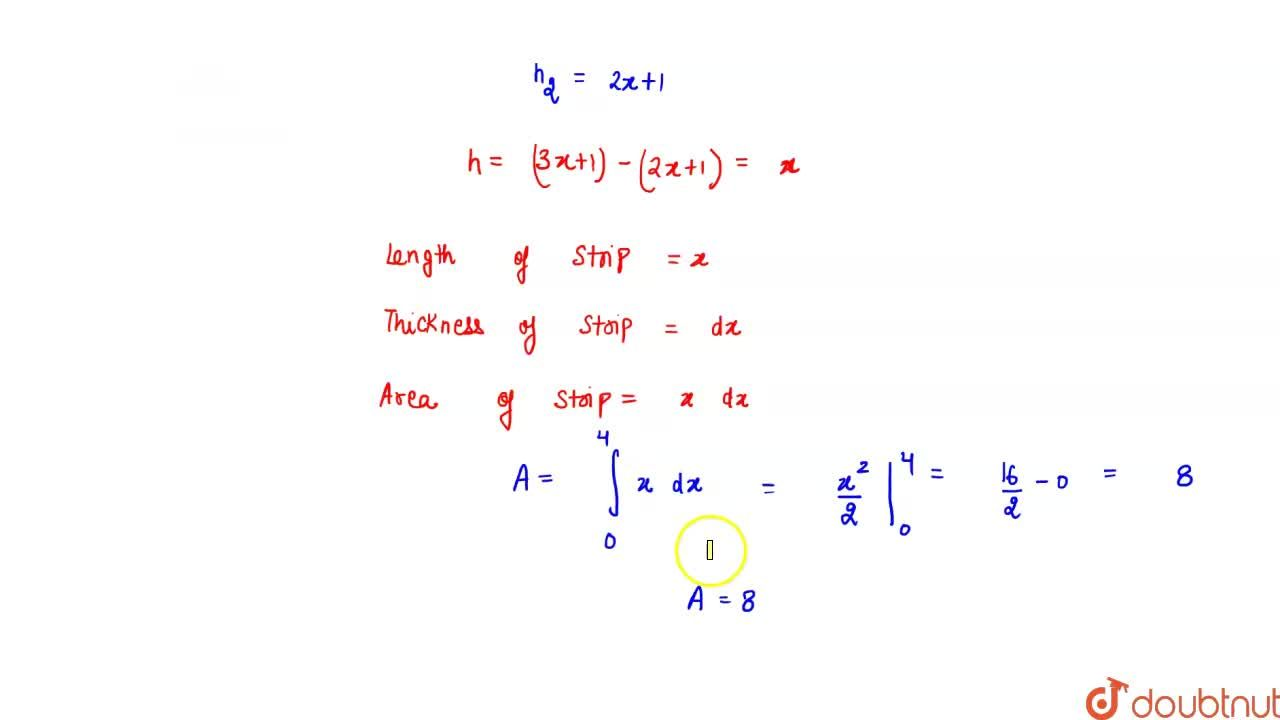 Solution for Using integration find   the area of the triangul