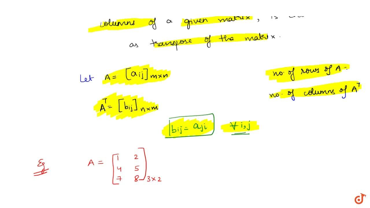 Solution for Transpose of a matrix
