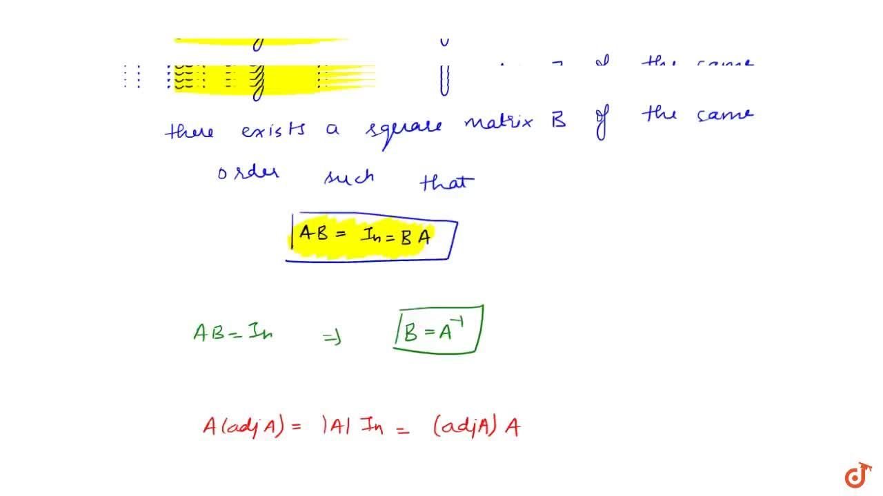 Solution for Inverse of a matrix