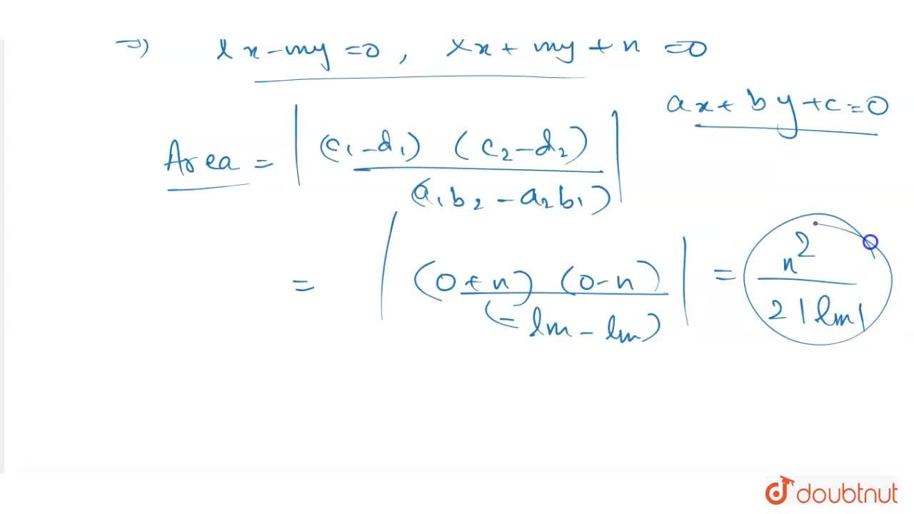 Solution for The area (in square units ) of the quadrilateral f
