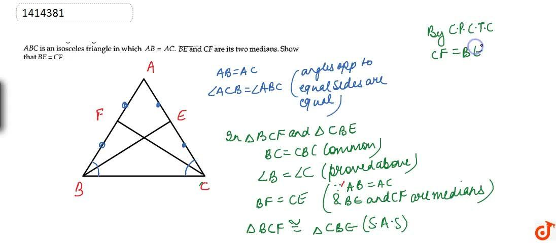 Solution for A B C is an isosceles   triangle in which A B=