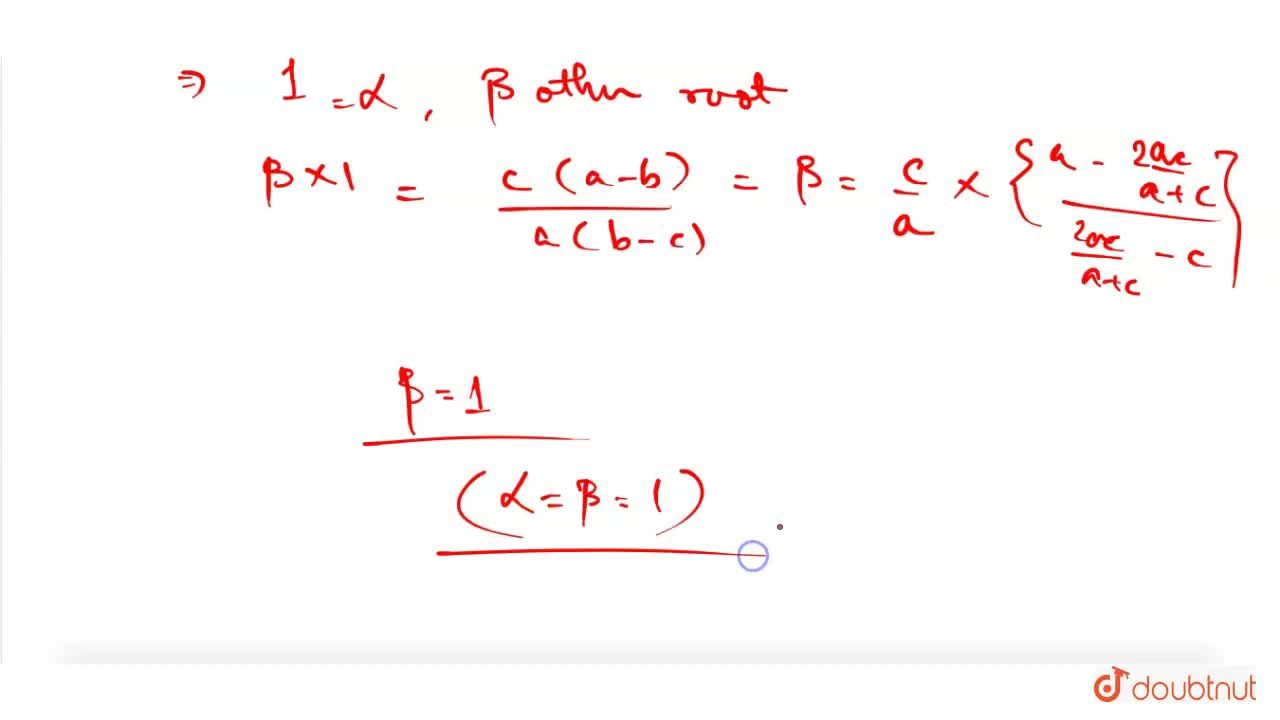 Solution for If b is the harmonic mean of a and c and alpha, b