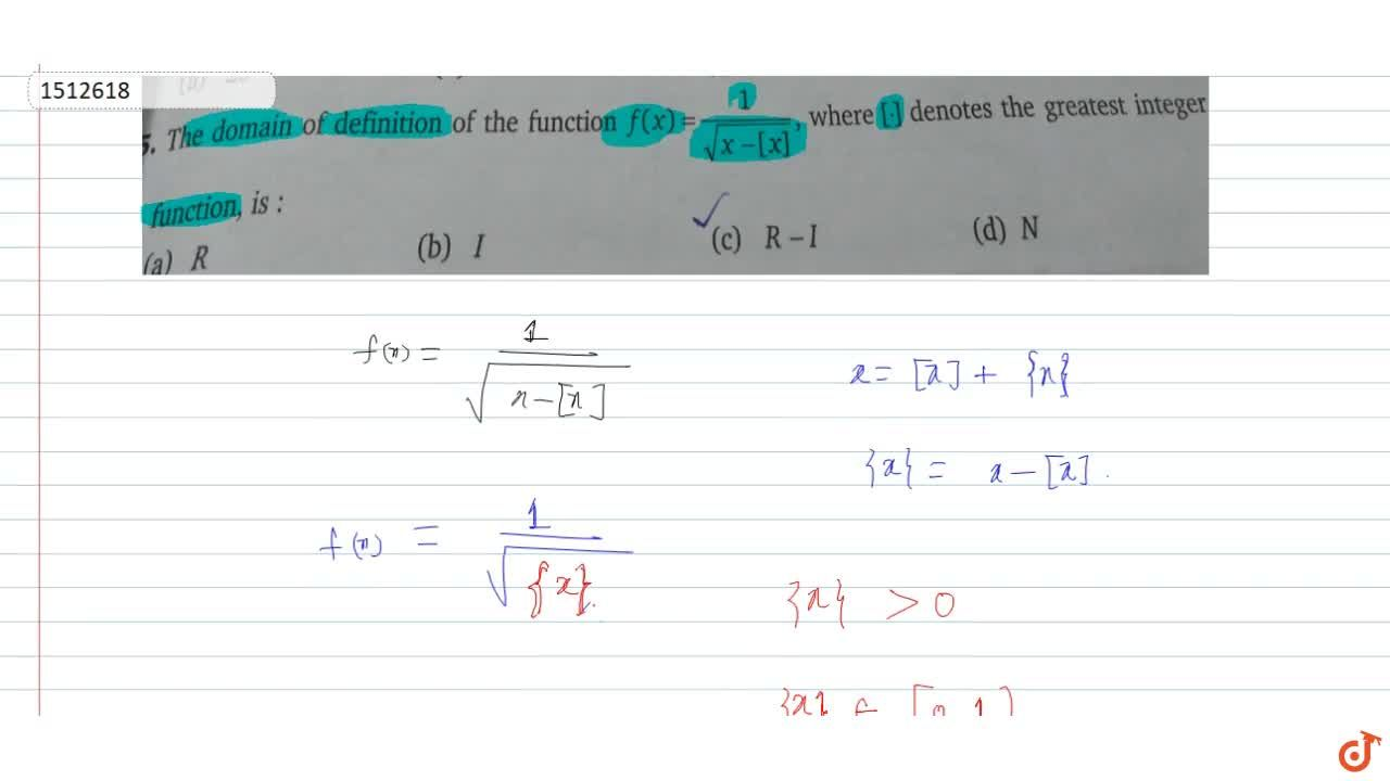 Solution for The domain of definition of the function f(x) =1,