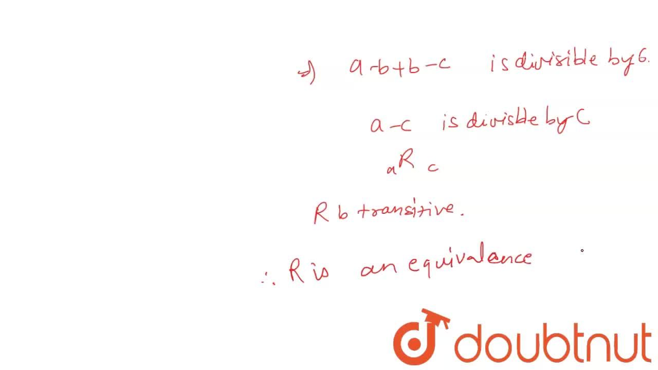 Solution for A relation R is defined on the set of integers as
