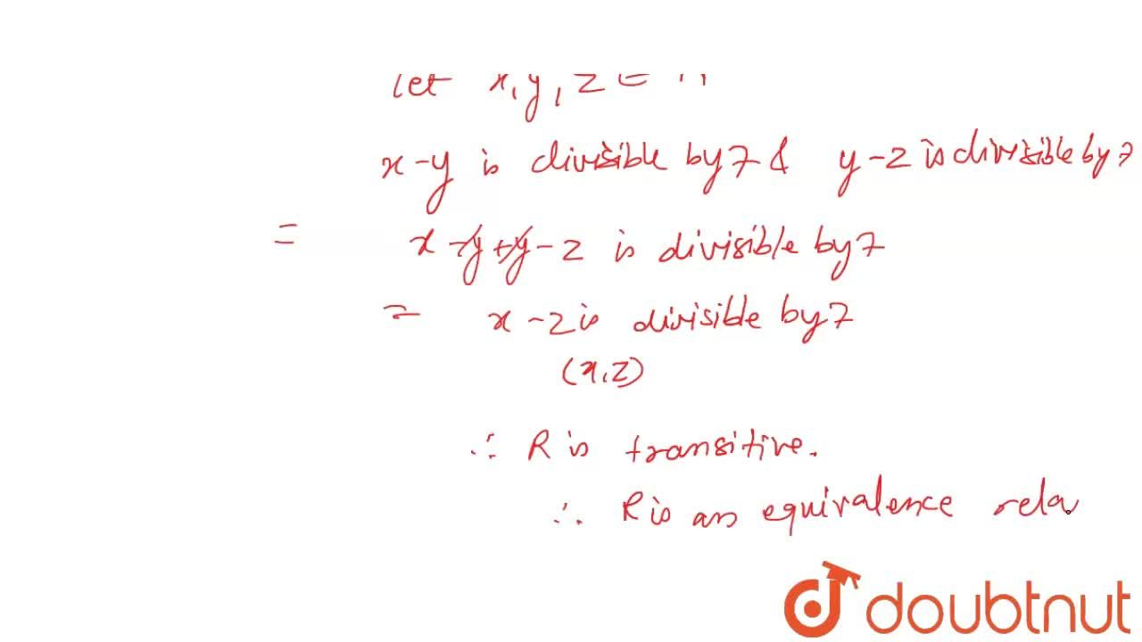 Solution for Prove that the relation R={(x,y): x, y in N and x