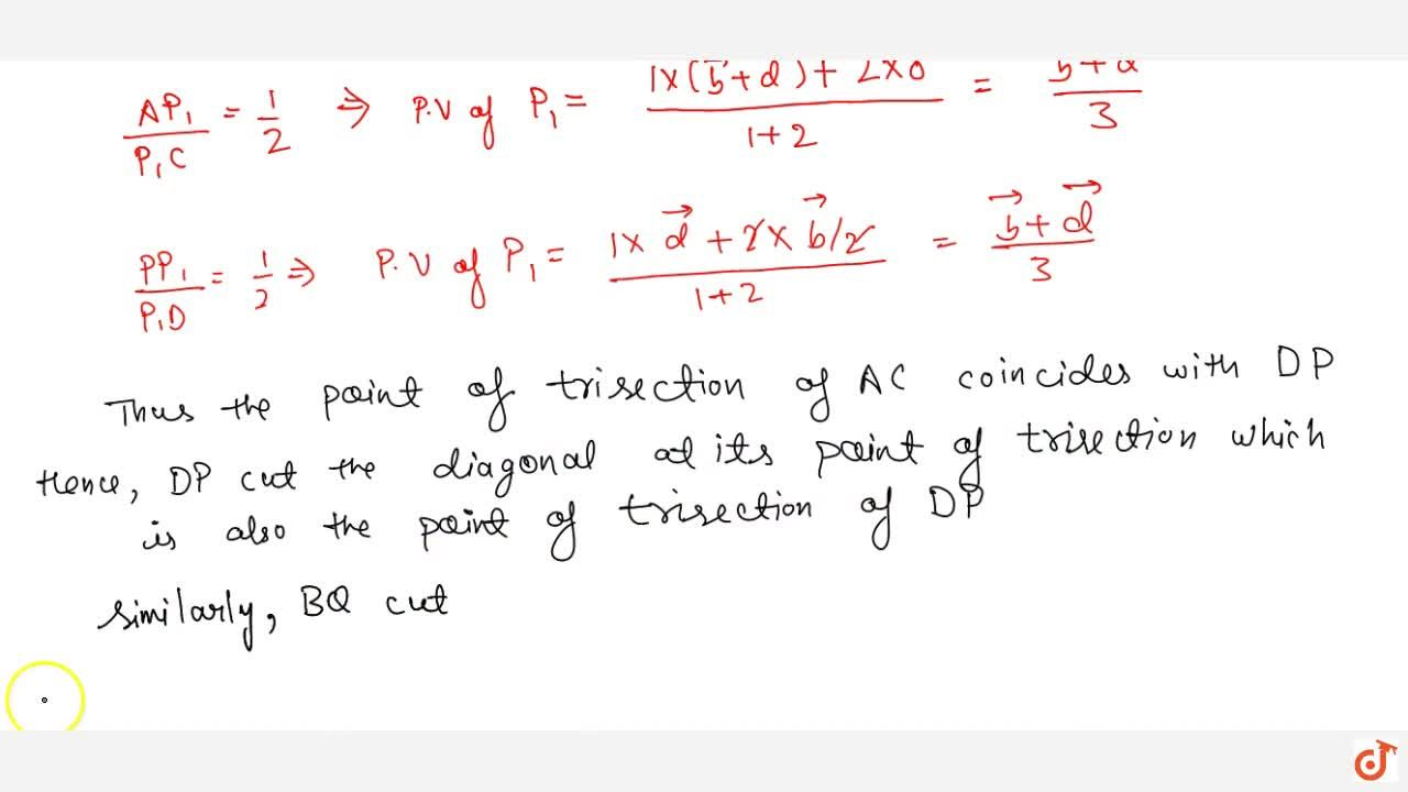 Solution for If P\ a n d\ Q are the mid points of the sides A