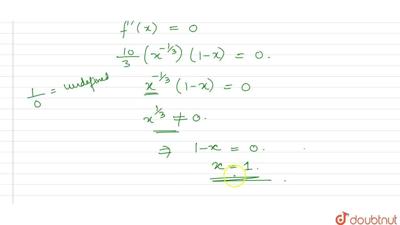Solution for What is , are the critical points (s) of the funct