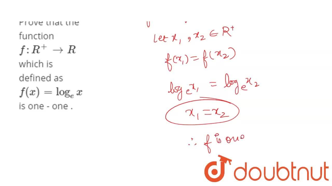 Solution for Prove that the function f: R^(+) to R  which is