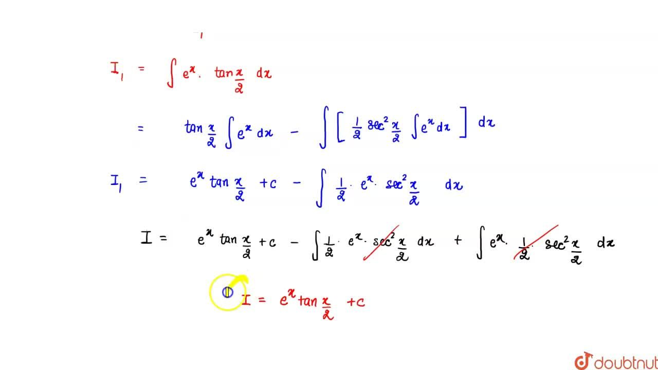 Solution for inte^(x)((1+sinx),(1+cosx))dx=?