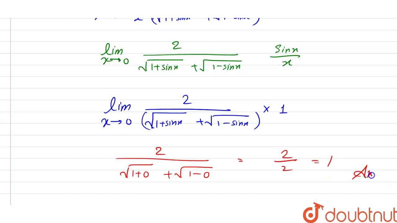 Solution for Evaluate the following limits: <br> lim_(xrarr0)(