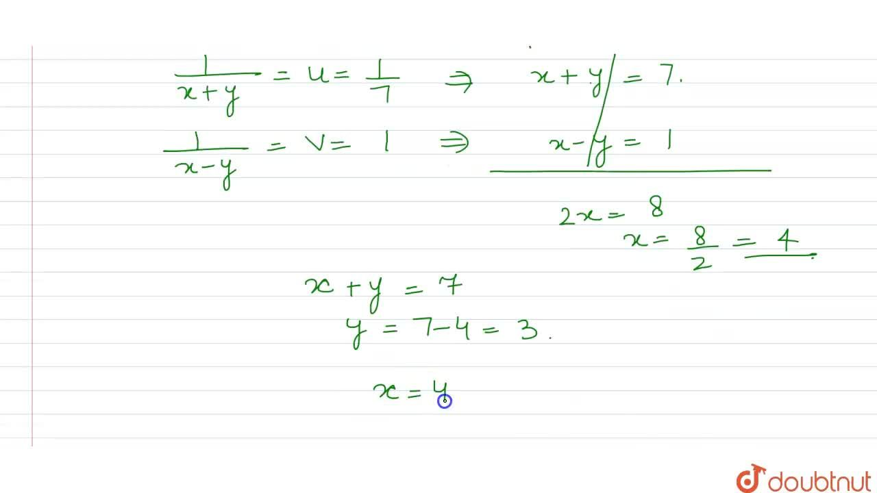 Solution for Solve  for  x  and  y   : ( 35),(x +  y ) +  ( 14