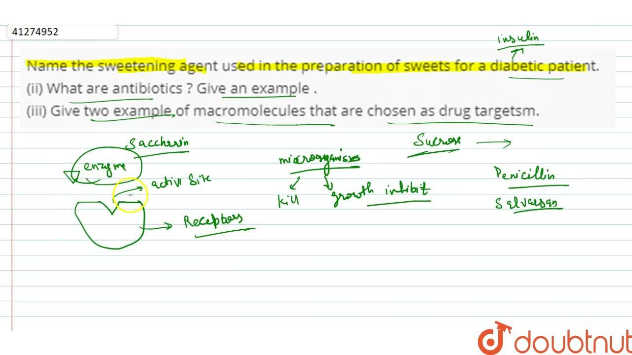 Solution for Name the sweetening agent used in the preparation