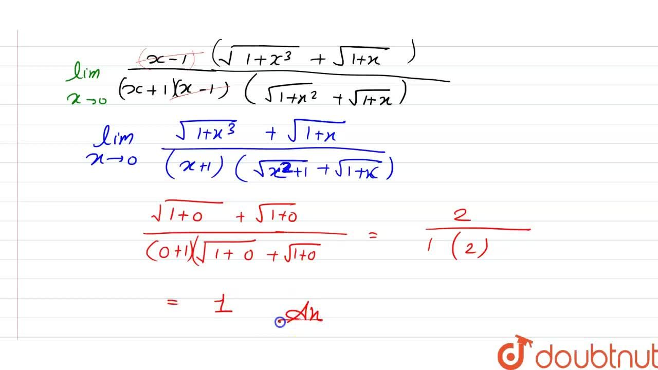Solution for Evaluate the following limits:   lim_(xrarr0)((sq