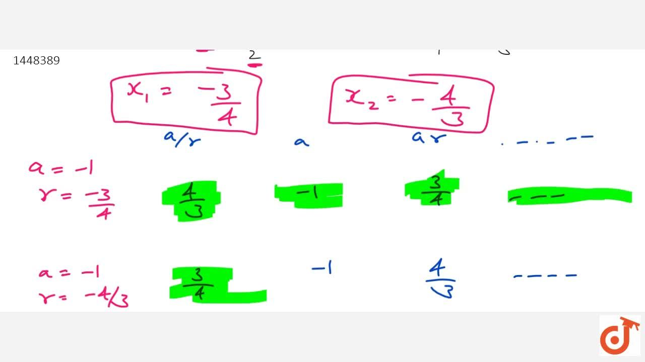 Solution for The sum of first three terms of a G.P. is 13,12 an