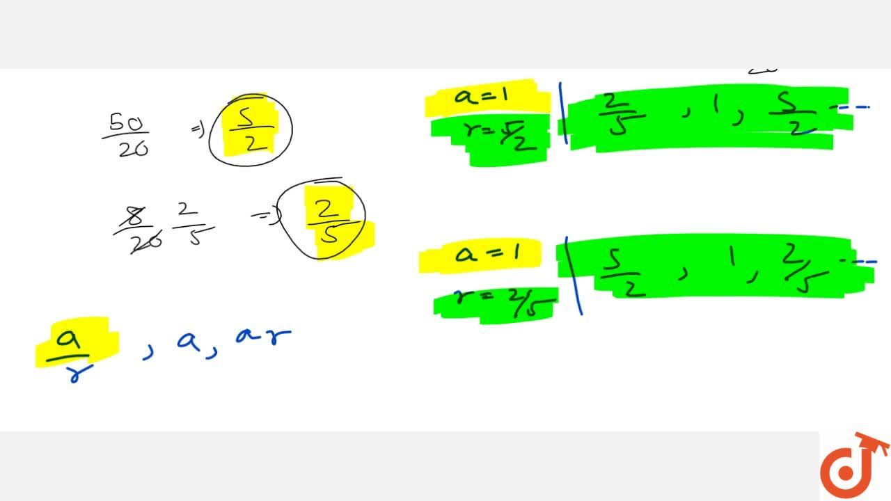 Solution for The sum of first three terms of a G.P. is (39),(1
