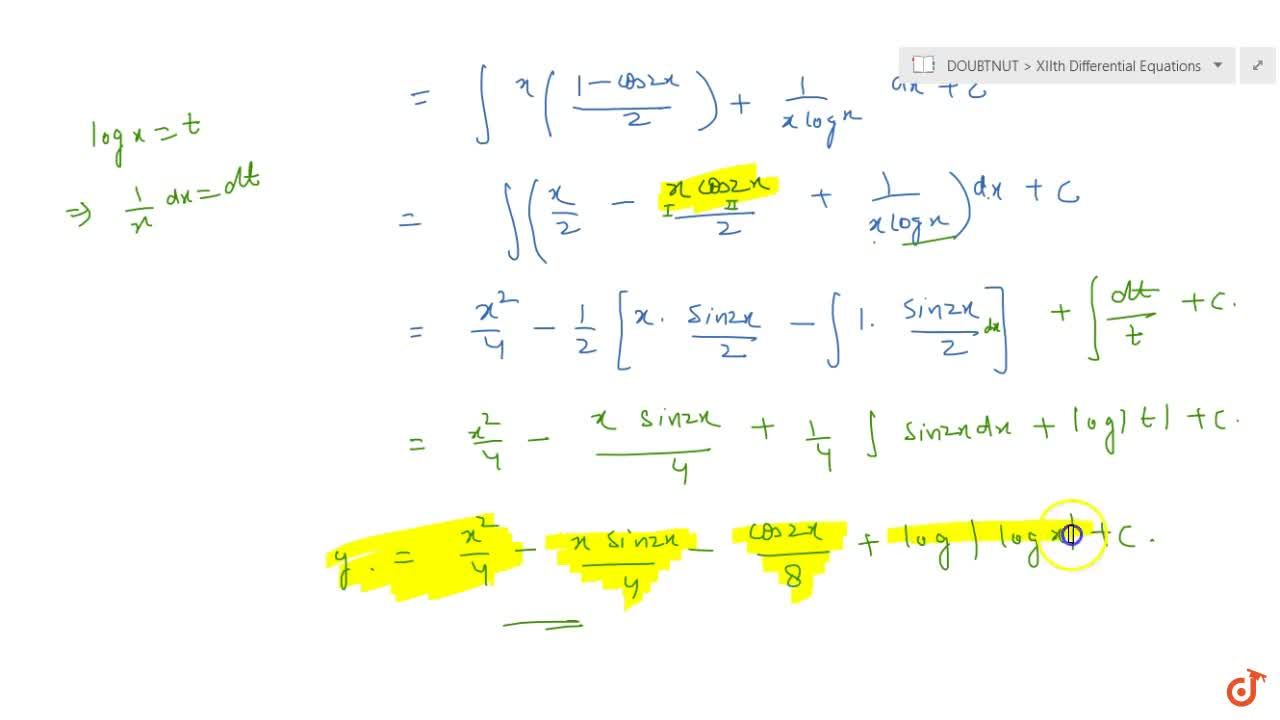 Solution for Solve the following differential equation: (dy),(