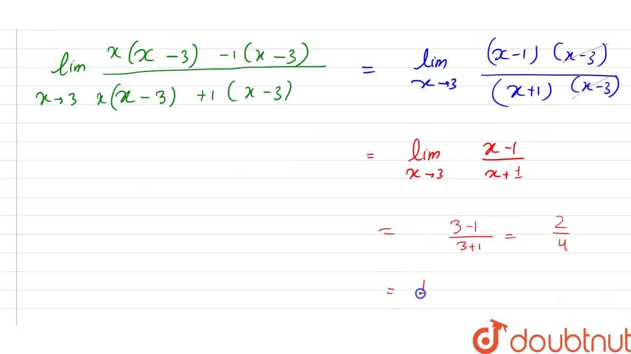 Solution for Evaluate the following limits: lim_(xrarr3)((x^(2
