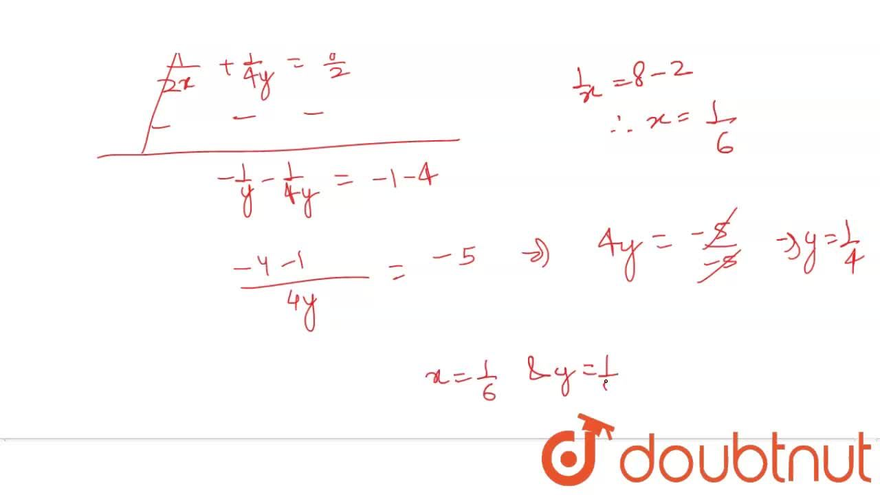 Solution for Solve for  x and y  :  <br>   (1),(2x)  -  (1),