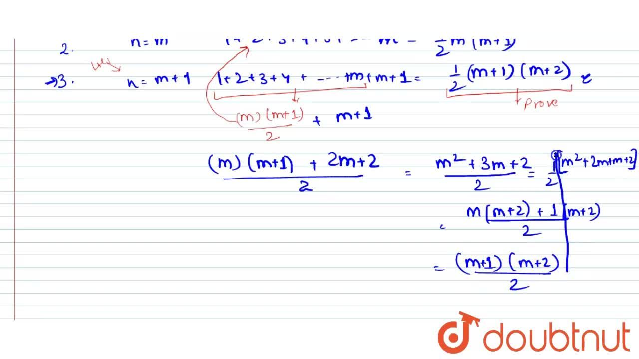 Solution for Using the principle of mathematical induction, pro