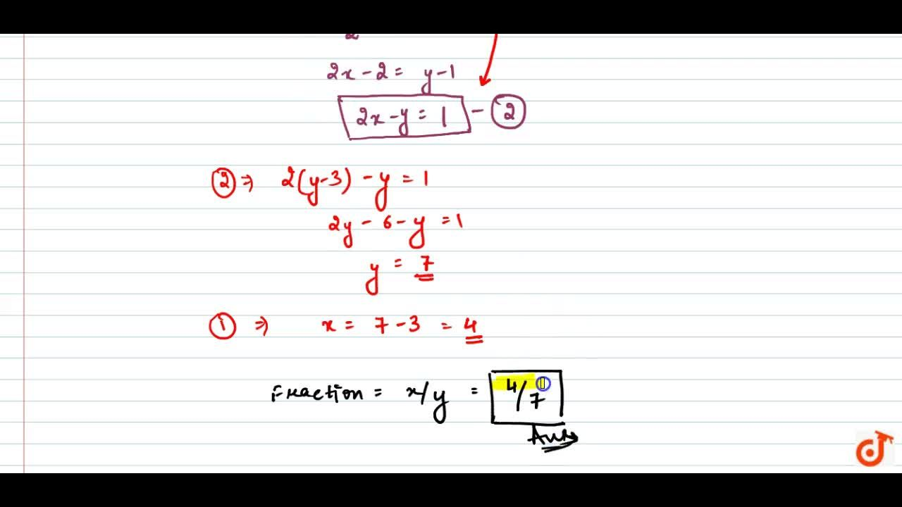 Solution for The sum of the   numerator and denominator of a f