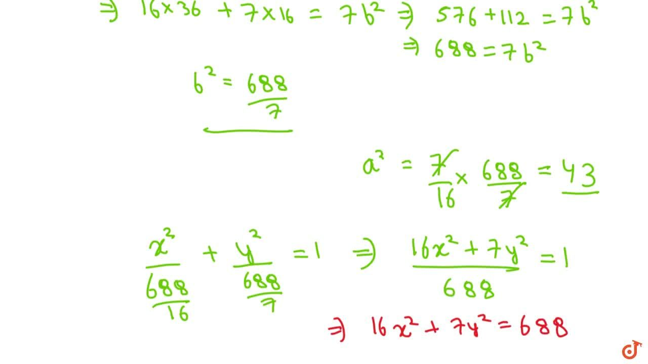 Solution for Find the equation of an ellipse with its foci on y
