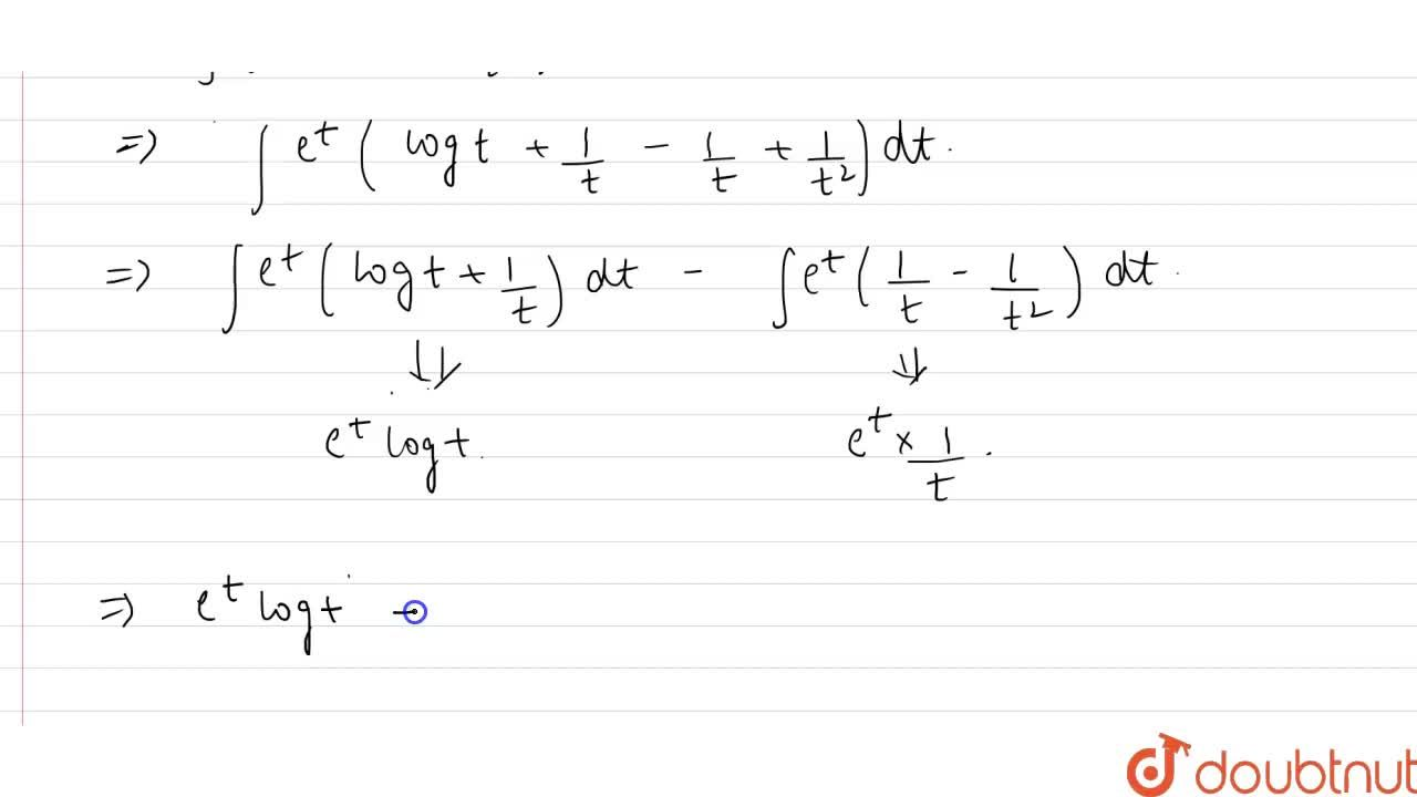 Solution for Evaluate the following integrals: <br> int{log(lo