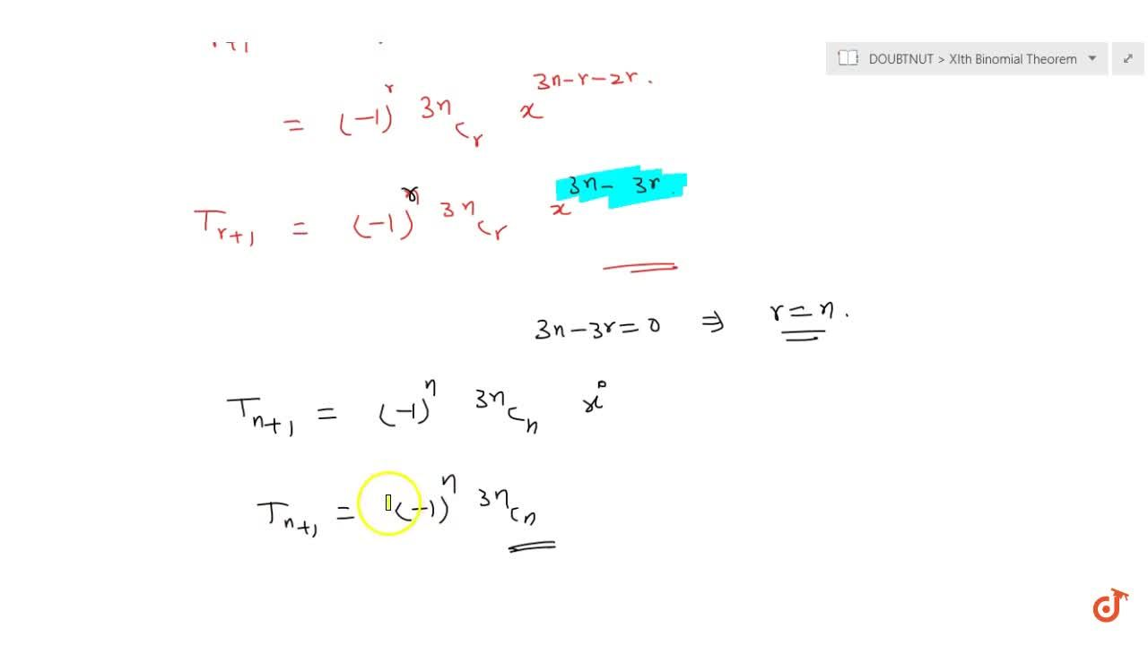 Find the term independent of x in the expansion off the following expression: (x-1,(x^2))^(3n)