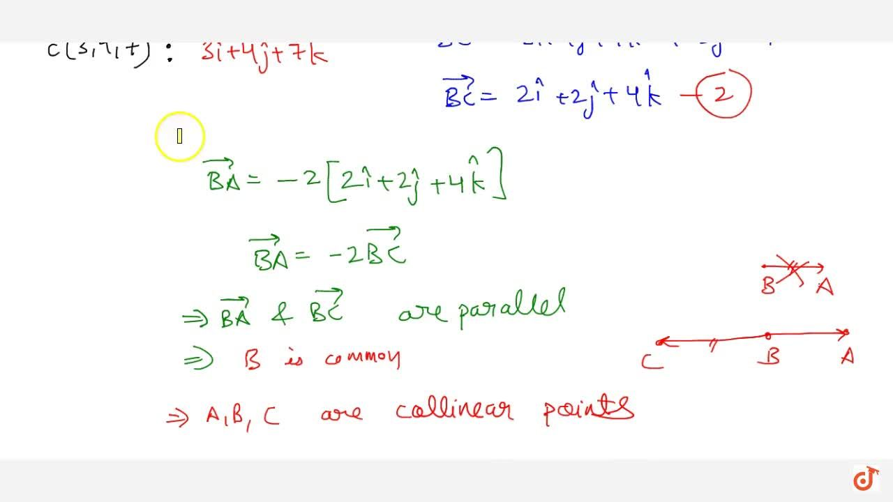 Solution for Using vector method, prove that the following poin