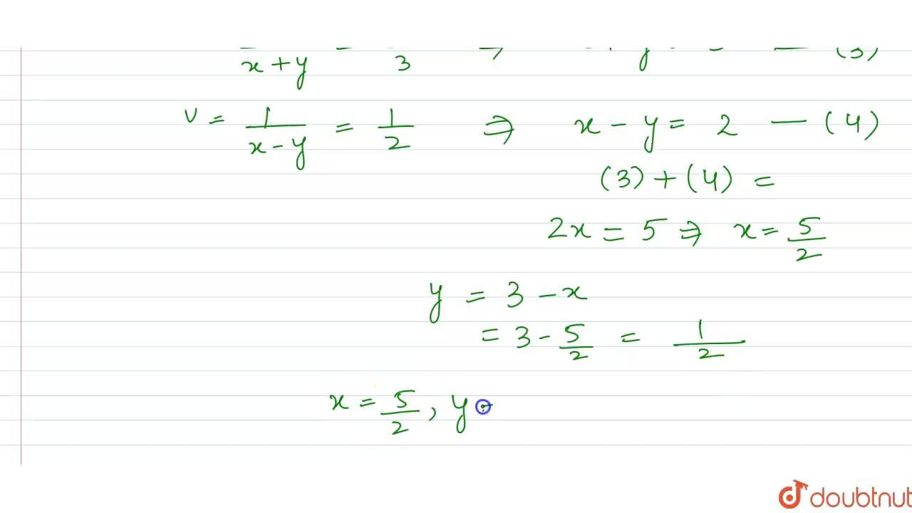 Solution for Solve  :   (3),(x  +  y ) +  ( 2),(x  - y )  = 2
