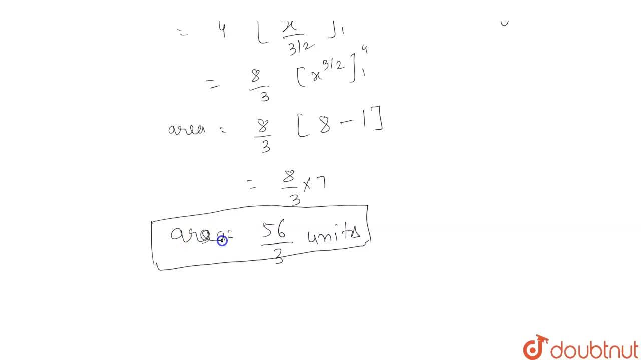 Find the area of the region bounded by the parabola y^2 = 4x, the x-axis, and the lines x = 1 and x = 4.