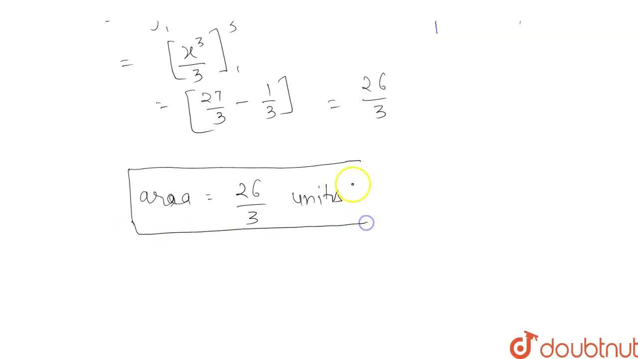 Find the area of the region bounded by the curve y = x^2 , the x-axis, and the lines x = 1 and x = 3.