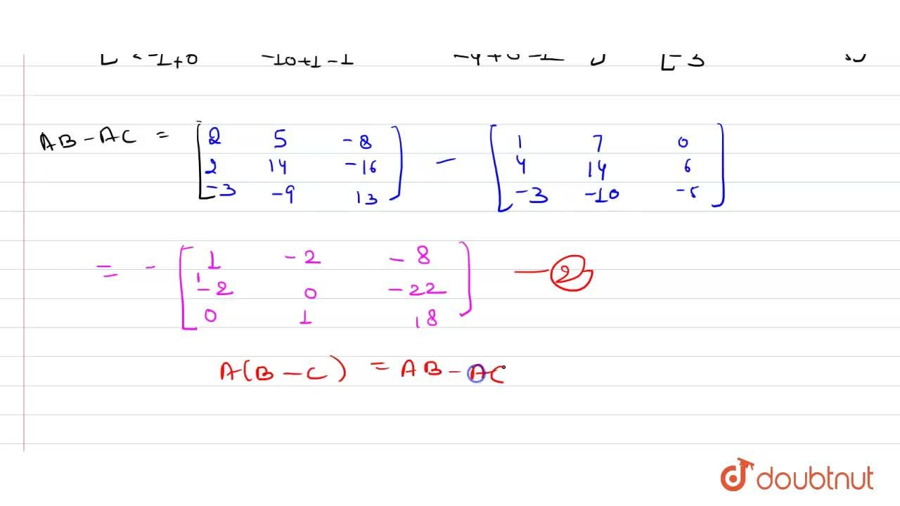 """Solution for If A=[{:("""" """"1,"""" """"0,-2),("""" """"3,-1,"""" """"0),(-2,"""" """"1,"""""""