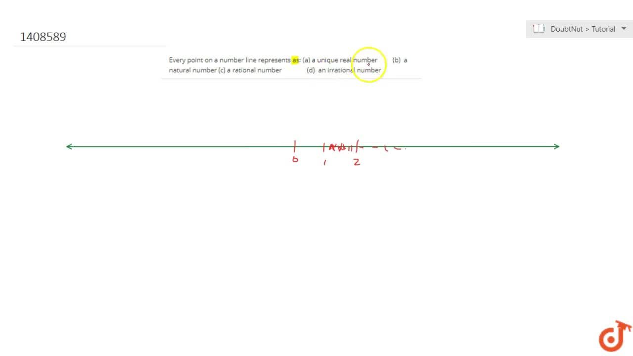 Solution for Every point on a number line represents as: (a)  a