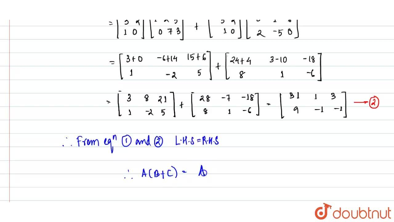 """Solution for If A=[{:(3,2),(1,0):}],B=[{:(1,-2,5),(0,7,3):}]"""""""