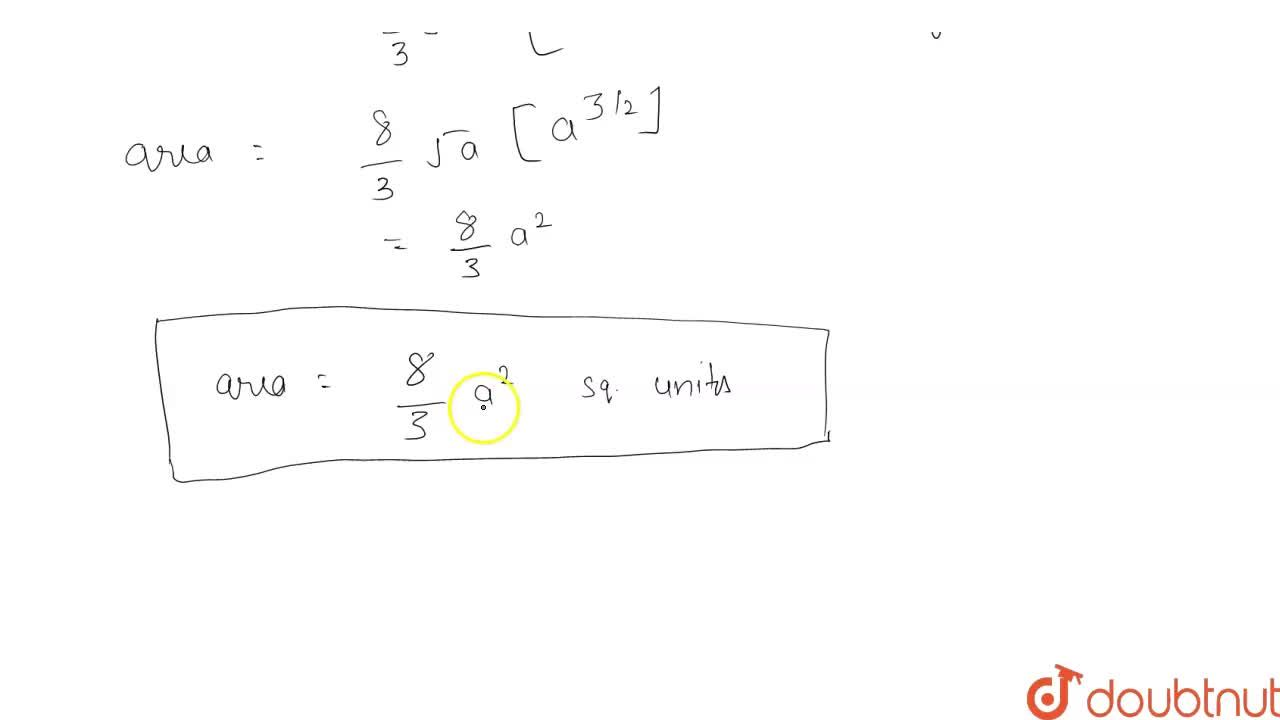 Solution for Calculate the area bouded by the parabola y^2=4ax
