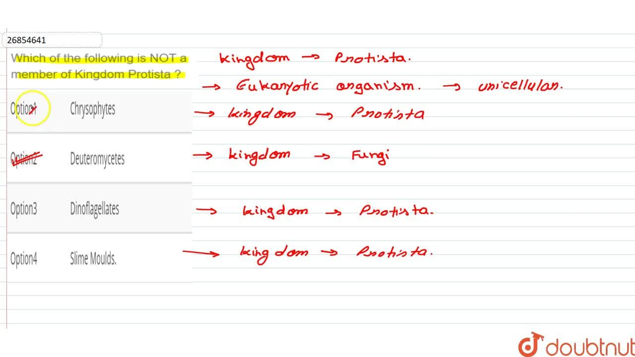 Solution for Which of the following is NOT a member of Kingdom