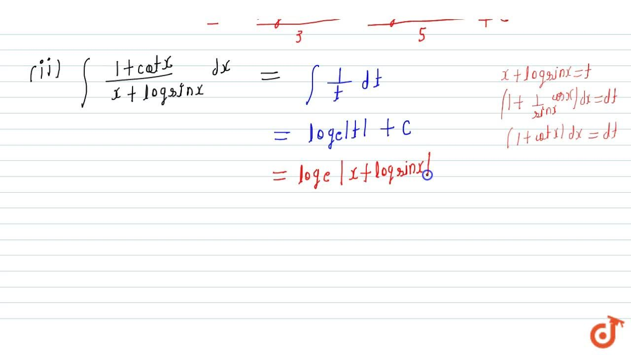 Solution for Evaluate: (i) int(sin2x),(sin5xsin3x)\ dx (ii)