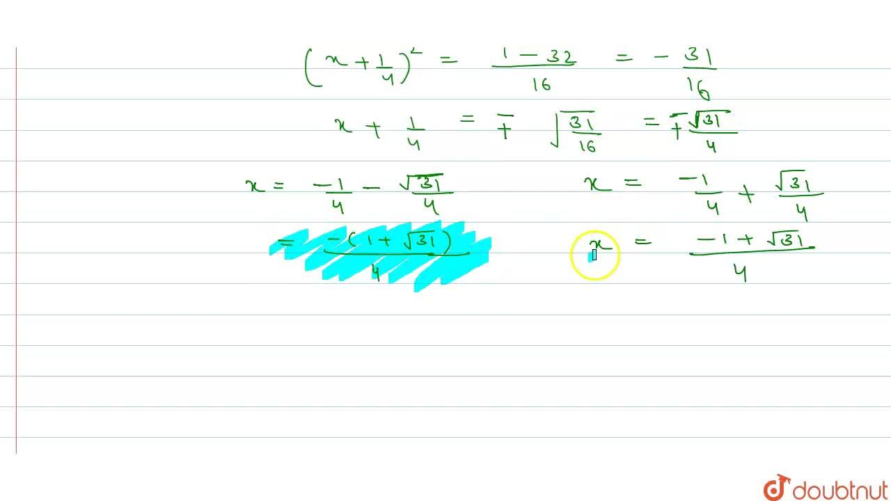 Solution for Solve each of the following equations by using the