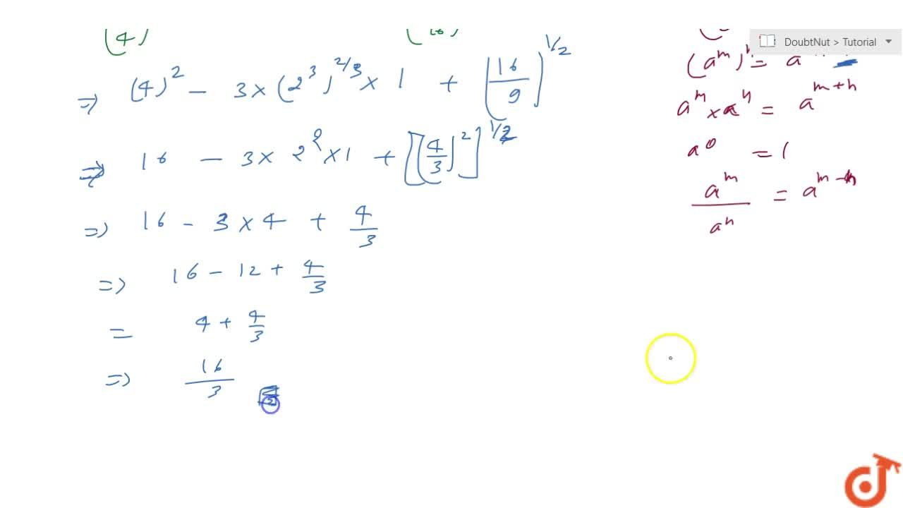 Solution for Prove that: (1,4)^(-2)-3\ xx\ 8^(2,3)\xx\ 4^0+\ (