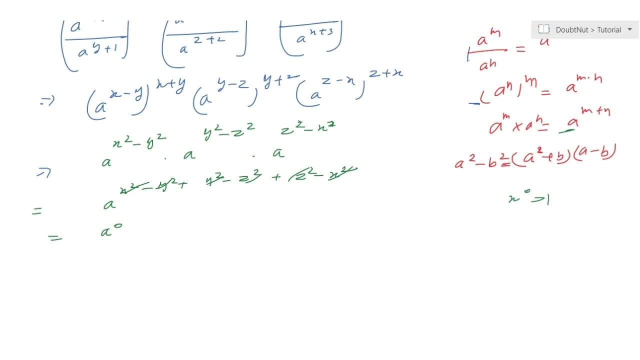 Solution for Show that: ((a^(x+1)),(a^(y+1)))^(x+y)\ ((a^(y+2)