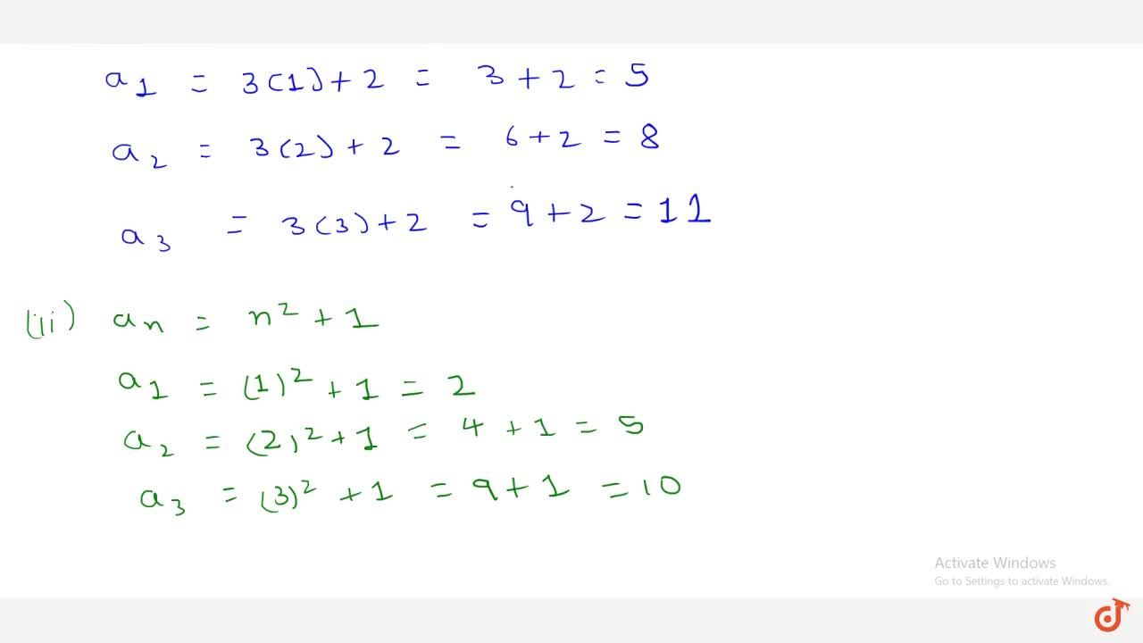 Solution for Write the   first three terms in each of the sequ