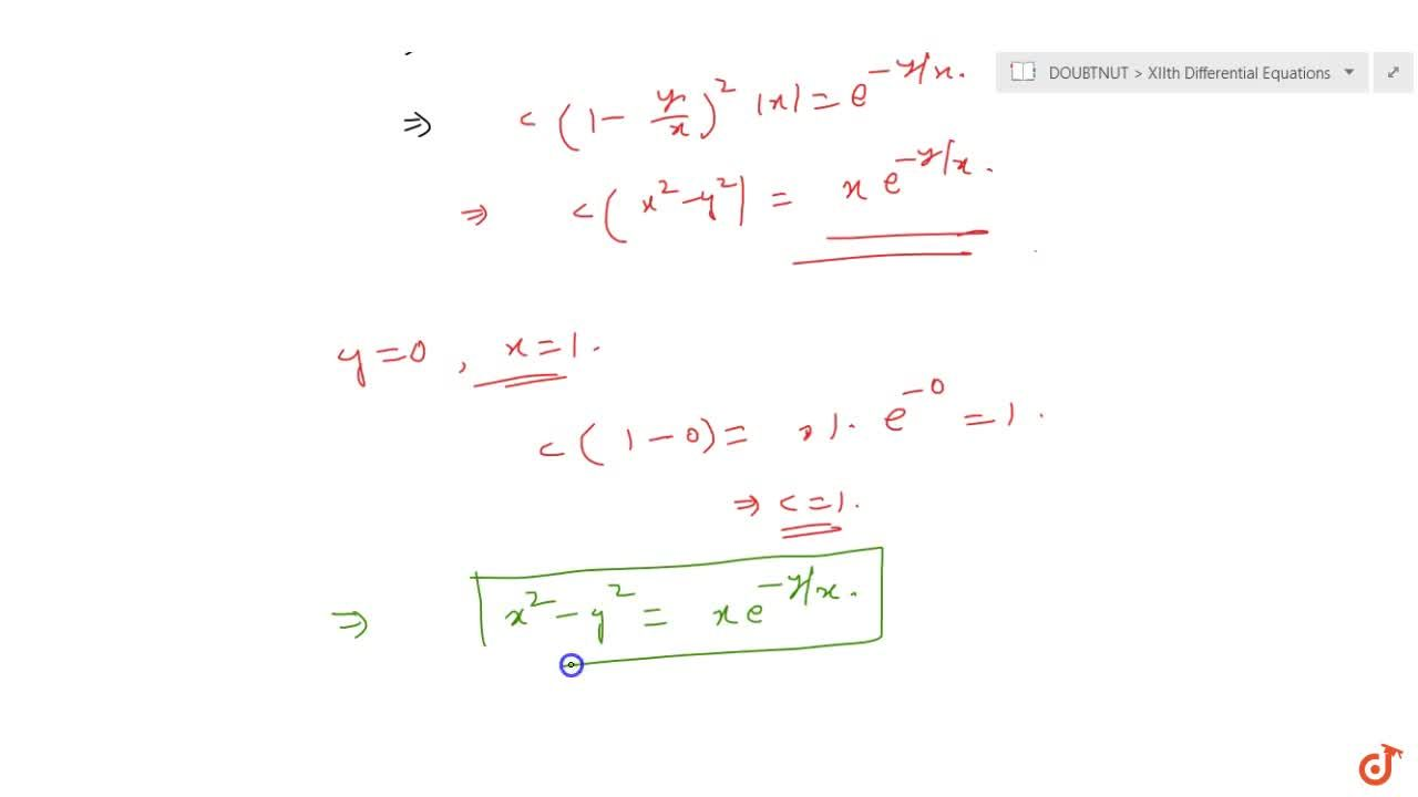 Solution for Find the particular solution of the differential