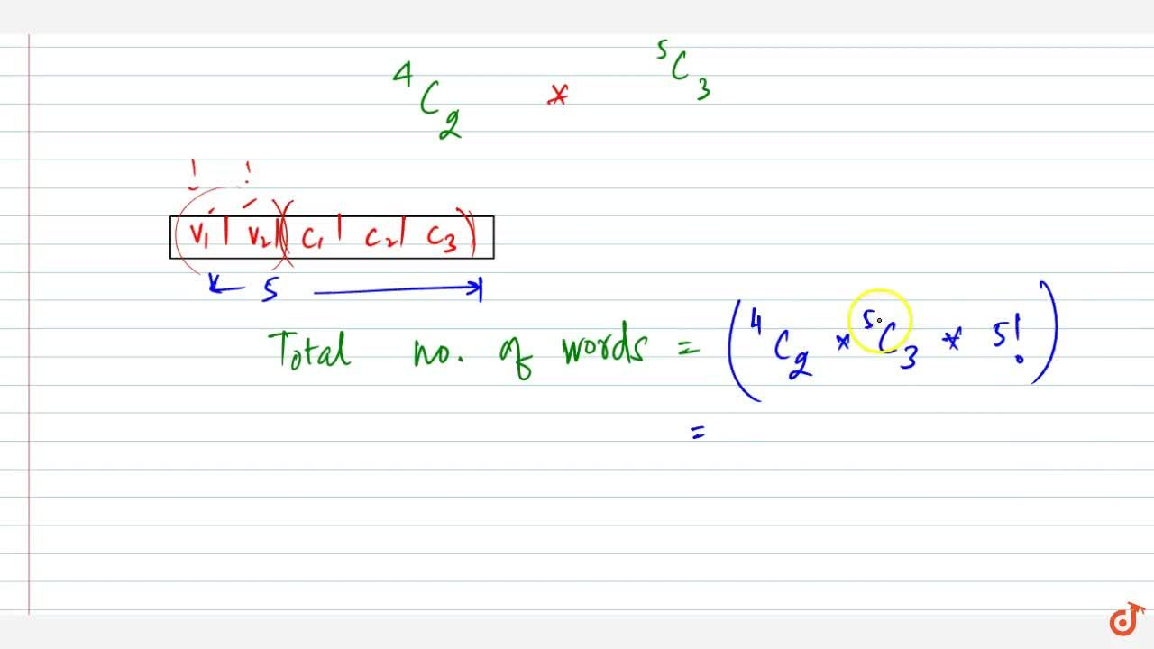 Solution for Write the total number of words formed by 2 vowels