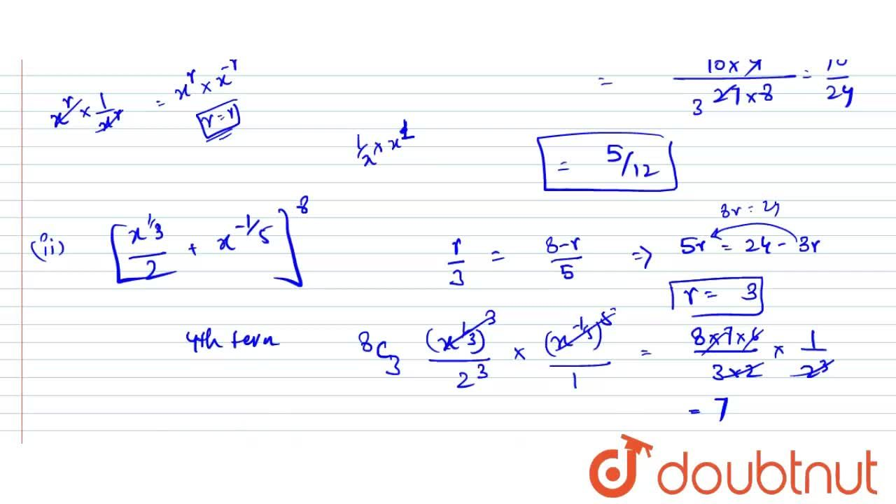 Solution for Find the term independent of x in the expansion of