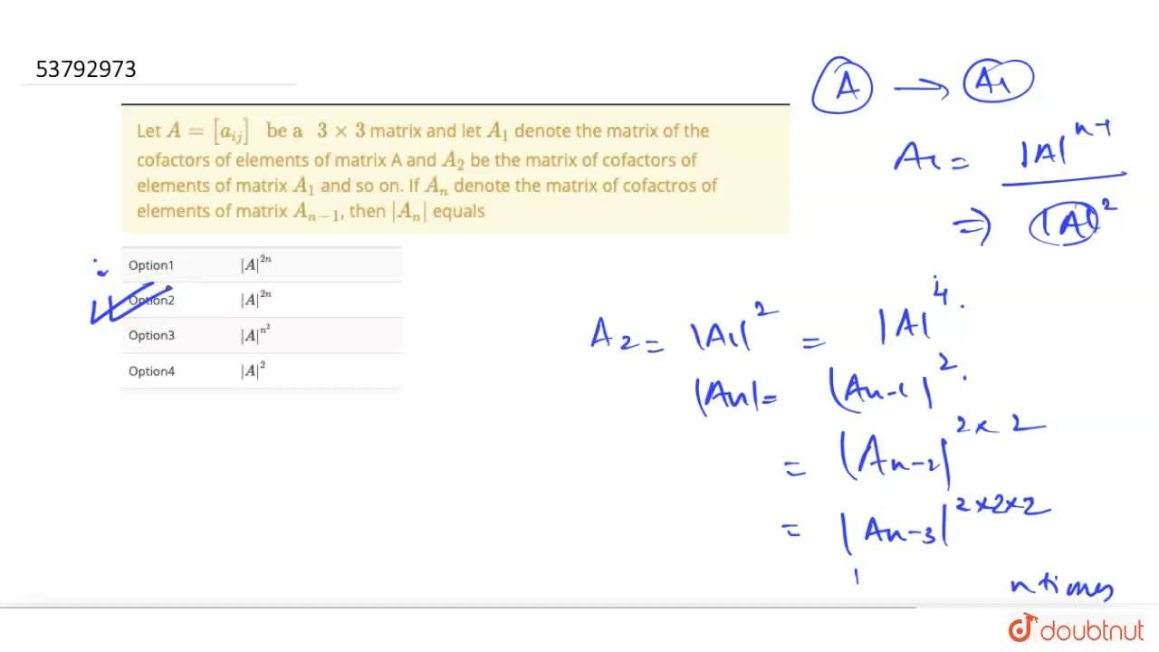 """Solution for Let A = [a_(ij)] """" be a """" 3 xx3 matrix and let"""